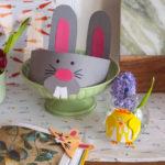 Wielkanocne DIY zdziećmi: wesoła opaska, waza izakładka do książki zkróliczymi uszami